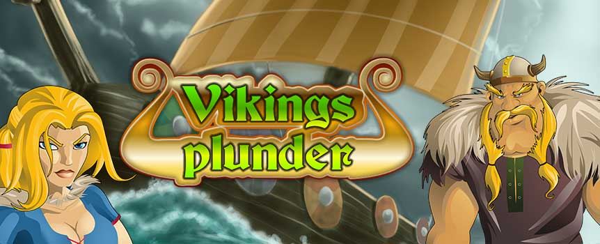 Vikings Plunder is set in a harsh and violent environment, where only the strongest and boldest of all can expect to survive and thrive. The game matrix features 5 spinning reels and 25 paylines in total. Each reel displays three symbols at the end of each turn. Make sure that winning combinations of symbols land on these paylines in order to win cash prizes, calculated according to the type of symbols involved and the size of your bet.