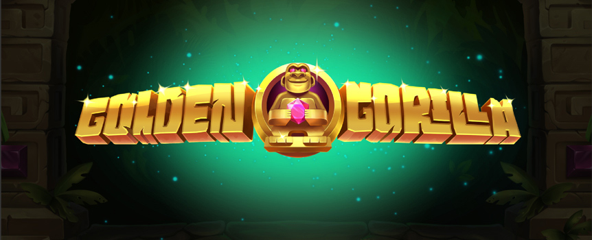 A gold, gorillas and an ancient temple all locked inside one pokie! The Golden Gorilla pokie is light on bananas and big on the riches. Five reels, three paylines and filled with free spins, bonus rounds and expanding wilds!