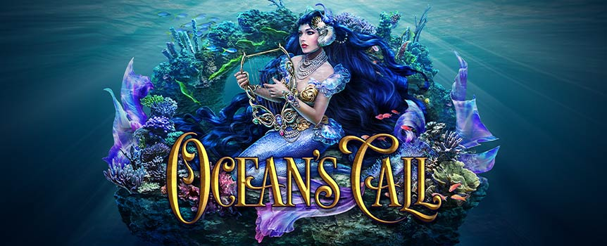 Ocean's Call features 5-reels and 3 rows with the possibility of landing wins from 20 paylines. Bet can be set by selecting the coin value to be played on each line.  All of this within your reach of only a press of a spin button. Should you choose the Gamble option, you will be presented with a deck of five cards, all facing down. The dealer has his own card and you can make your selection between four cards. If your card is higher, you will double your win, but if your card is lower, you will lose your win.