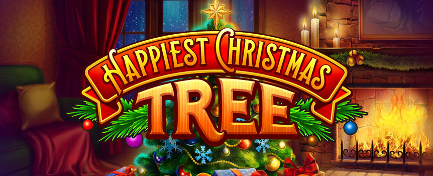 Happiest Christmas Tree is a video slot with 5 reels, 40 paylines and several features including Deleting Symbols, Stacked Symbols, Symbol Removal, Wilds, and more. The game has a free spins bonus game and this is usually where you can win the big money. If you are looking to win the really big money you may be the lucky one because this game offers a Happiest Christmas Tree jackpot.