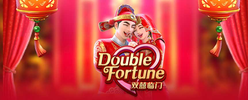 Double Fortune is a 5-reel, 3-row video slot featuring double symbols and Free Spins Feature with two sets of 5 x 3 reels. Whenever a payline win involves one or more double symbols, the winning double symbols will count as two symbols when calculating wins for the current spin! But that's not all: 3 Scatter symbols appearing anywhere in the main game will trigger the Free Spins Feature with 8 free spins! Experience double happiness and win double affluence with 'Double Fortune' now!