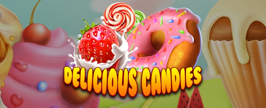 Add some lollies to your pokie with the Delicious Candies machine.