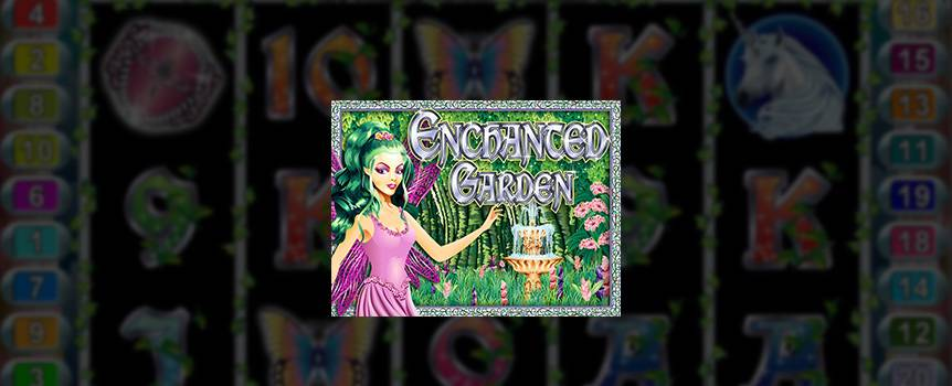 In Enchanted Garden, you'll see unicorns, fireflies and fairy princesses prancing around using all their powers to make sure you have a good time. With 5-reels and 20-lines in this magical world, the free spins, scatter substitutions and random jackpot payouts could be just a game away. So go deep into the Enchanted Garden today and find out if the magic is in your finger tips.