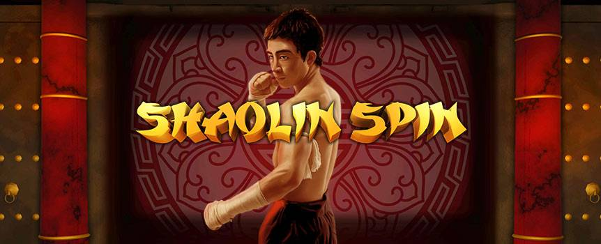 Whisk yourself away to the orient with Shaolin Spin. This slot transports you to a martial arts wonderland. Once inside, you will find dragons, ancient buildings, doves, and the yin and yang symbols as you spin your way to victory. With 5-reels and 243 lines, just lock in three or more of any symbol in a row to win. The Yin and Yang symbol is Wild and even turns the symbols on either side of it wild too! Additionally, the Martial Artist symbol is the Scatter, so lock in 3 or more of these and you'll enjoying free spins in no time.