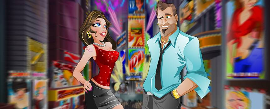 Get ready to celebrate New Year's Eve every night with this epic party-themed slot game. You better get your game face on and dress to impress because everyone is going to be decked to the nines, and you don't want to miss out on that midnight smooch, now do you? Usher in the New Year as you hit the town and top the guest lists at all the swankiest parties you know. So bust out the champagne because the celebrations never end in this high-energy 5-reel game.